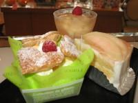 桃のケーキ3種